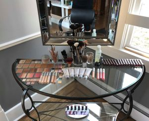 Our Aveda Makeup station